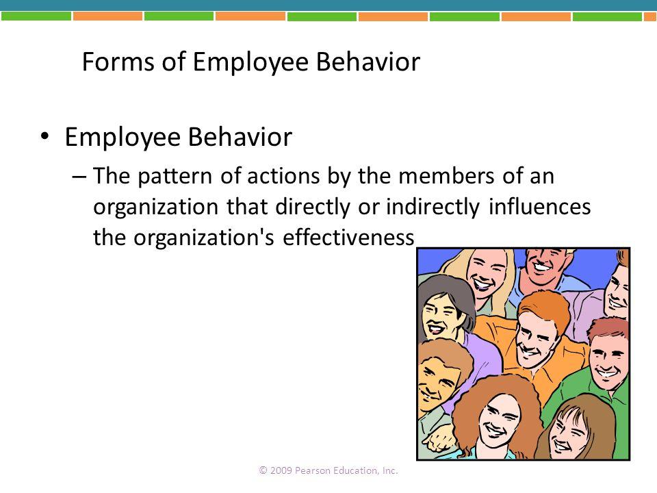 Forms of Employee Behavior