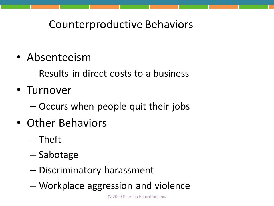 Counterproductive Behaviors