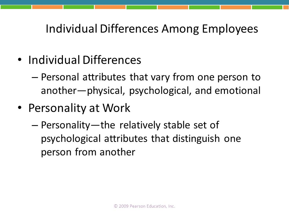 Individual Differences Among Employees