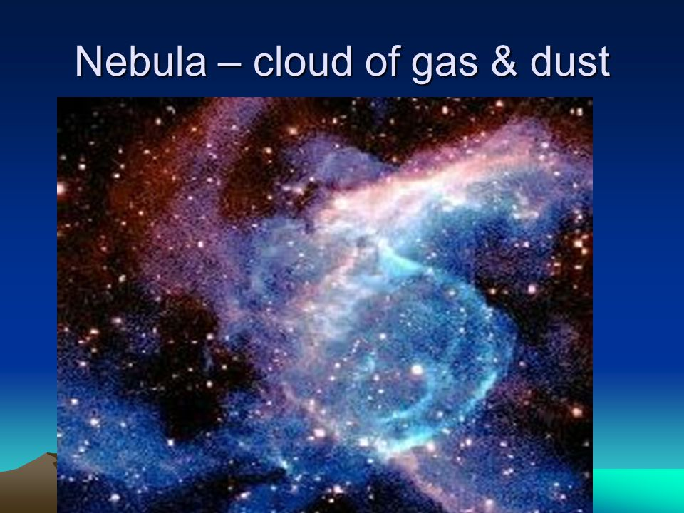 Nebula – cloud of gas & dust