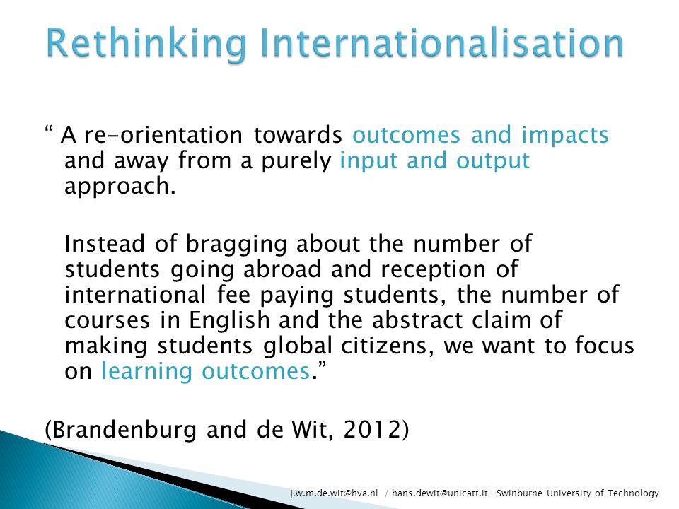 Rethinking Internationalisation