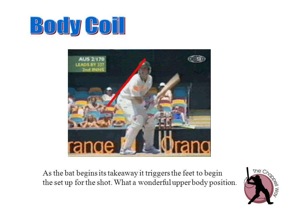 Body Coil As the bat begins its takeaway it triggers the feet to begin