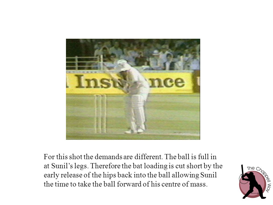 For this shot the demands are different. The ball is full in