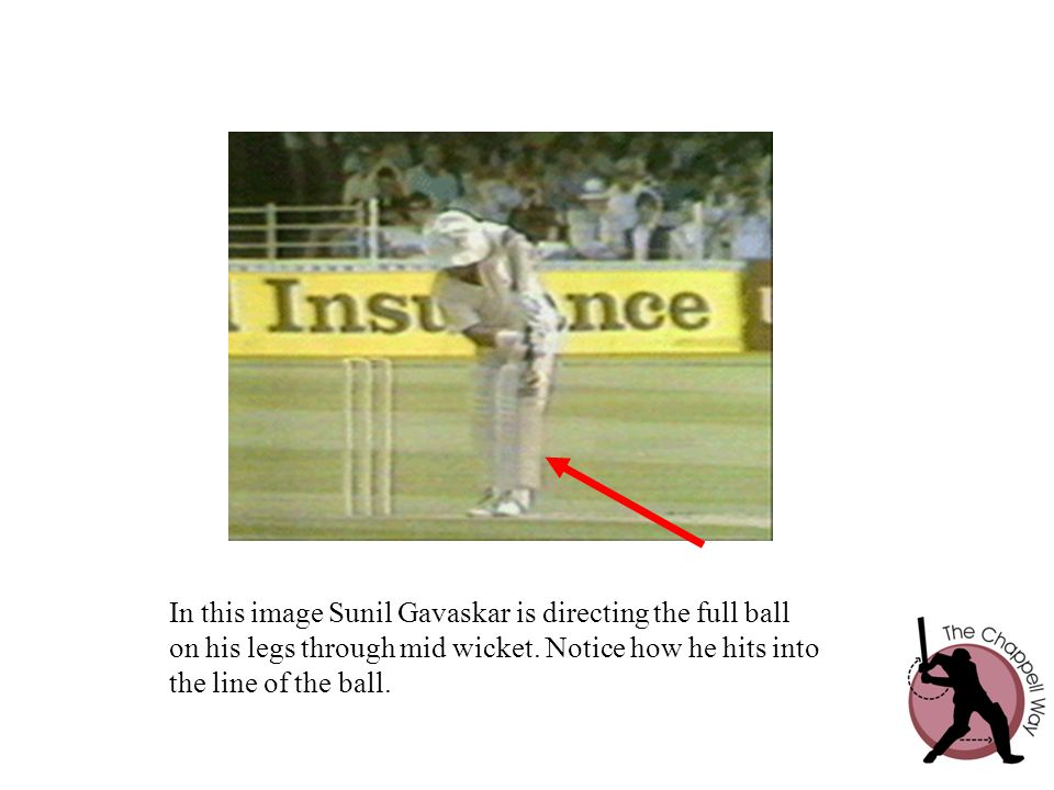 In this image Sunil Gavaskar is directing the full ball