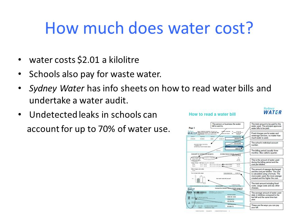 How much does water cost