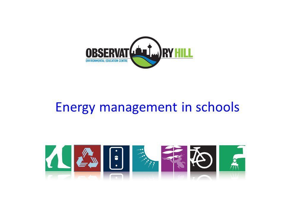 Energy management in schools