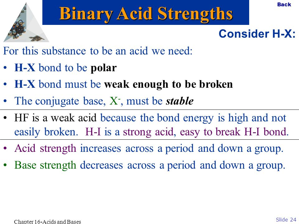 Chapter 16-Acids and Bases