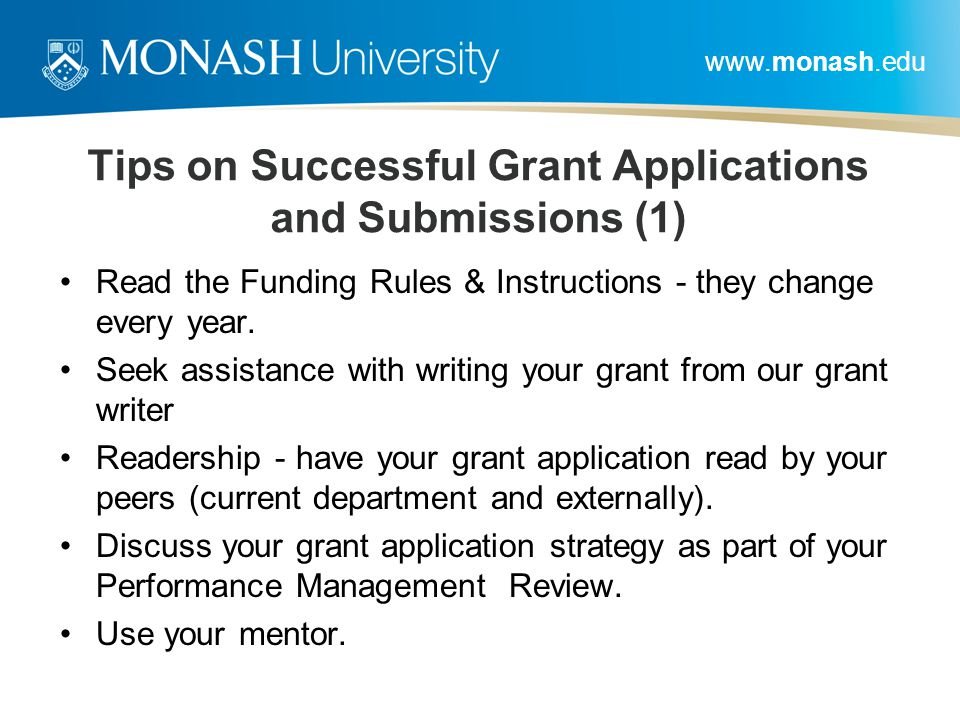Tips on Successful Grant Applications and Submissions (1)
