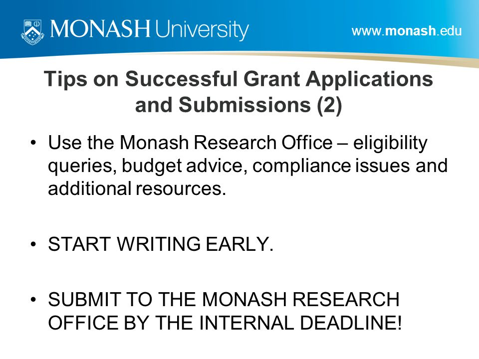 Tips on Successful Grant Applications and Submissions (2)