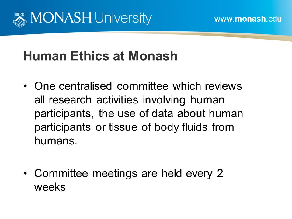 Human Ethics at Monash