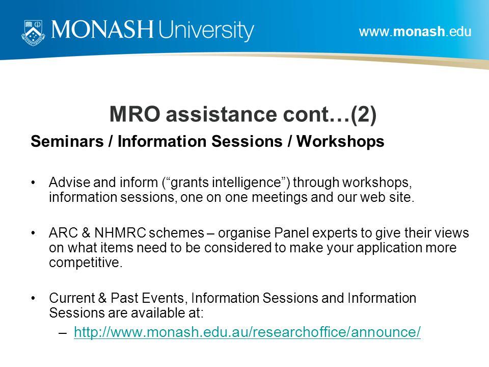 MRO assistance cont…(2)