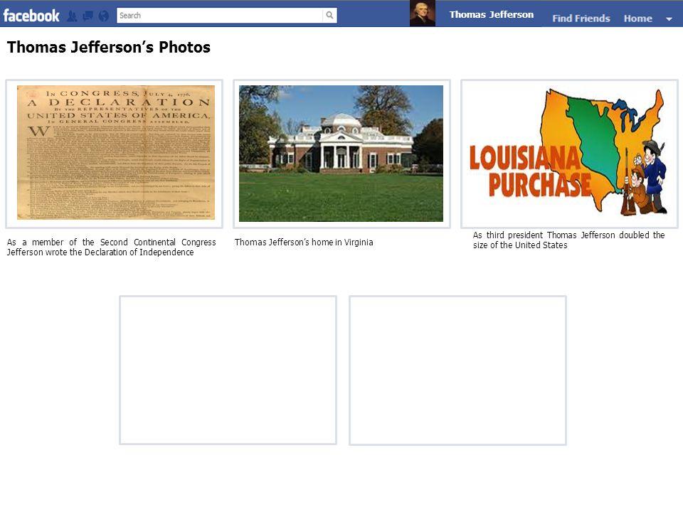 Thomas Jefferson's Photos