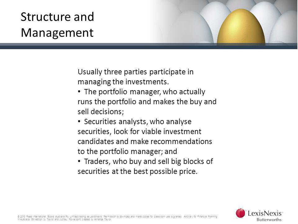 Structure and Management