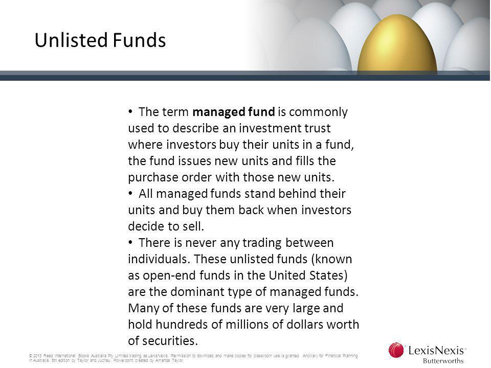Unlisted Funds