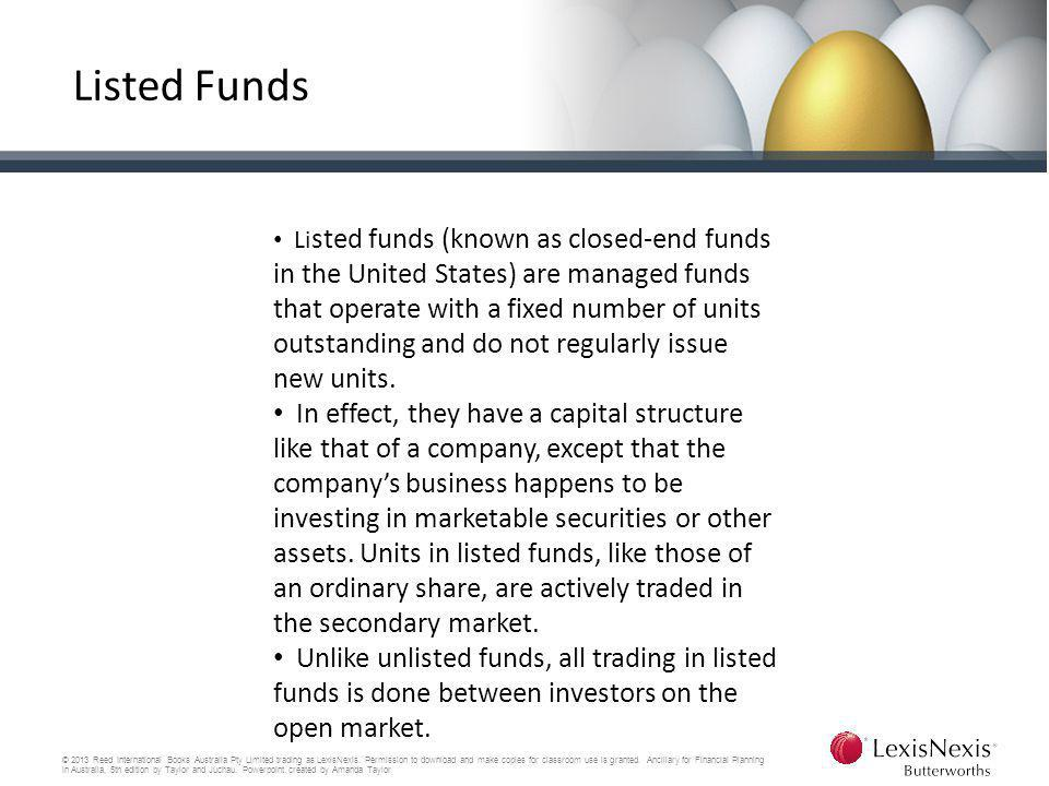 Listed Funds