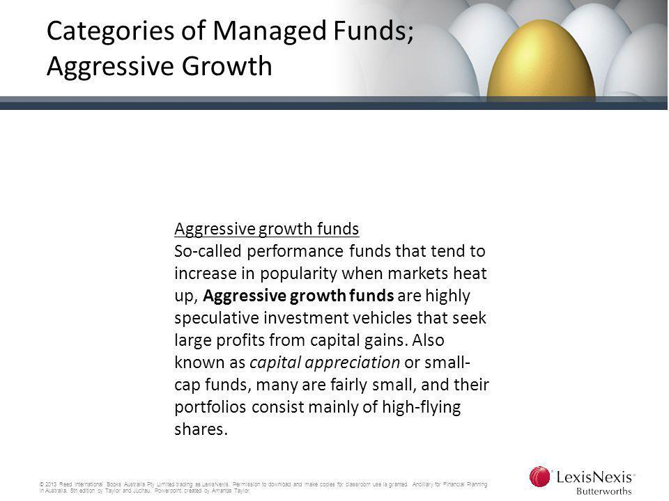 Categories of Managed Funds; Aggressive Growth