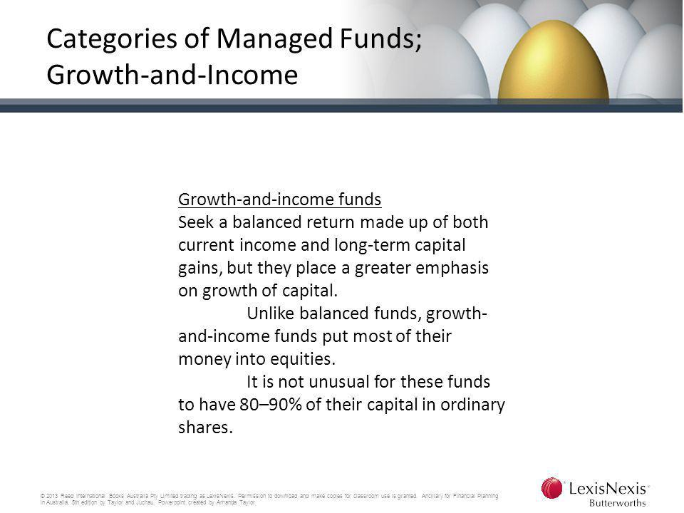 Categories of Managed Funds; Growth-and-Income