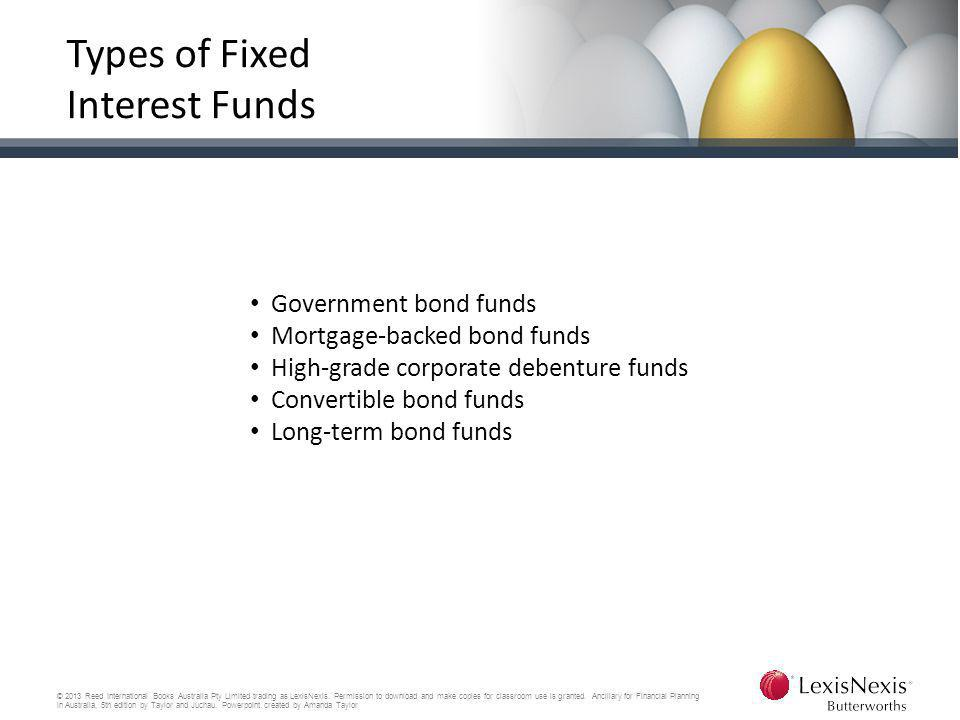 Types of Fixed Interest Funds