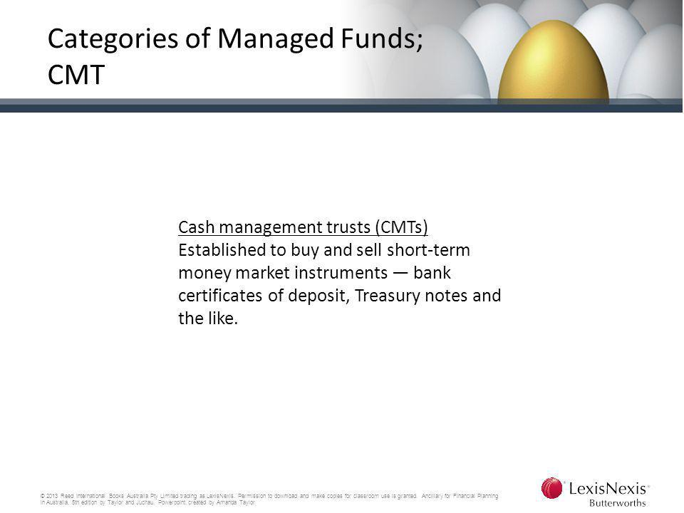 Categories of Managed Funds; CMT