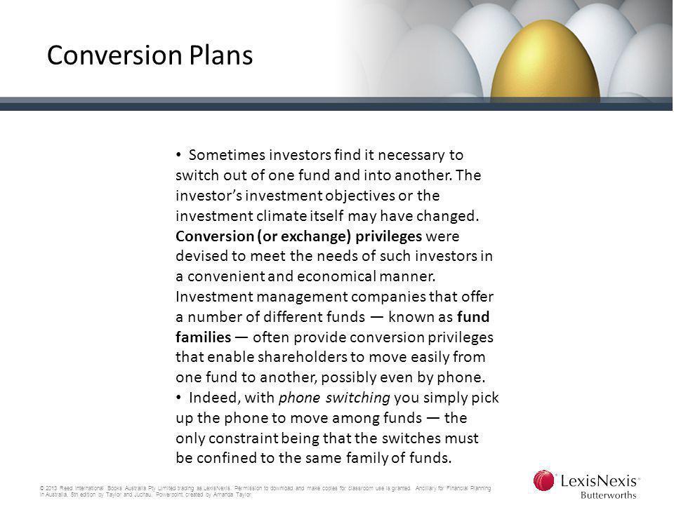 Conversion Plans