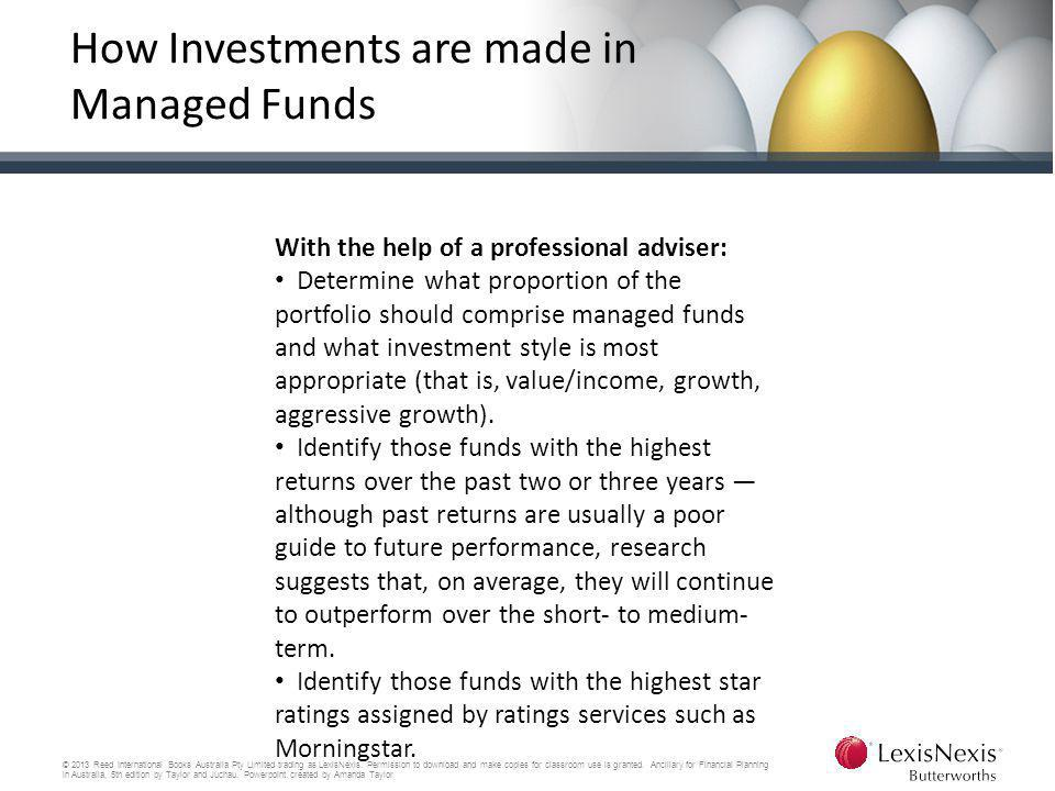 How Investments are made in Managed Funds