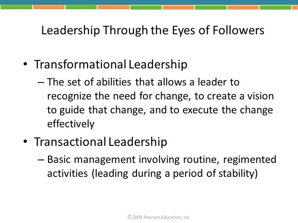 Leadership Through the Eyes of Followers