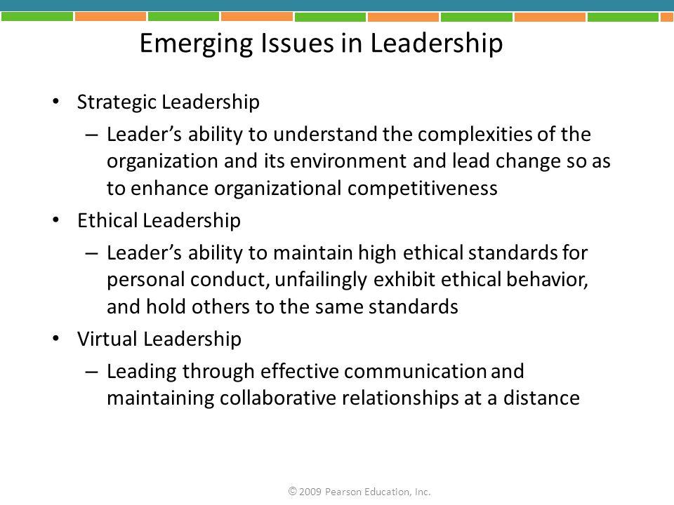 Emerging Issues in Leadership