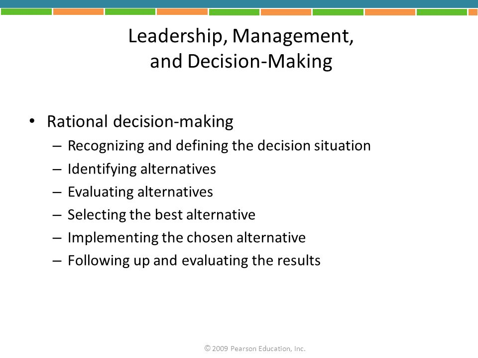 Leadership, Management, and Decision-Making
