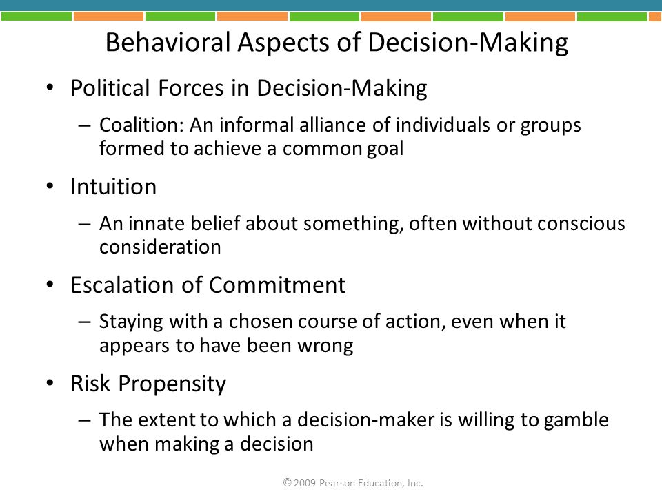 Behavioral Aspects of Decision-Making