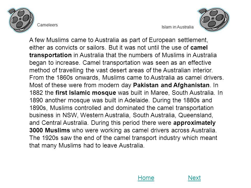 Cameleers Islam in Australia.