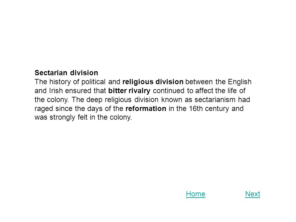 Sectarian division