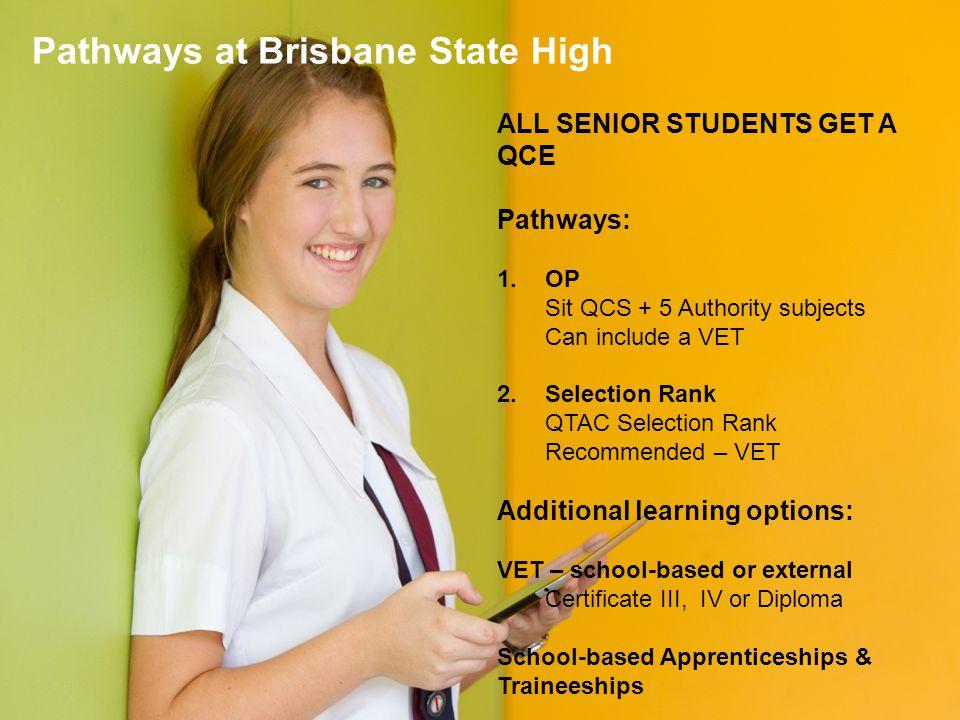 Pathways at Brisbane State High