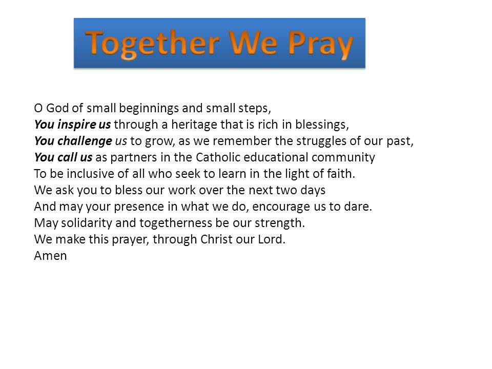 Together We Pray Together We Pray