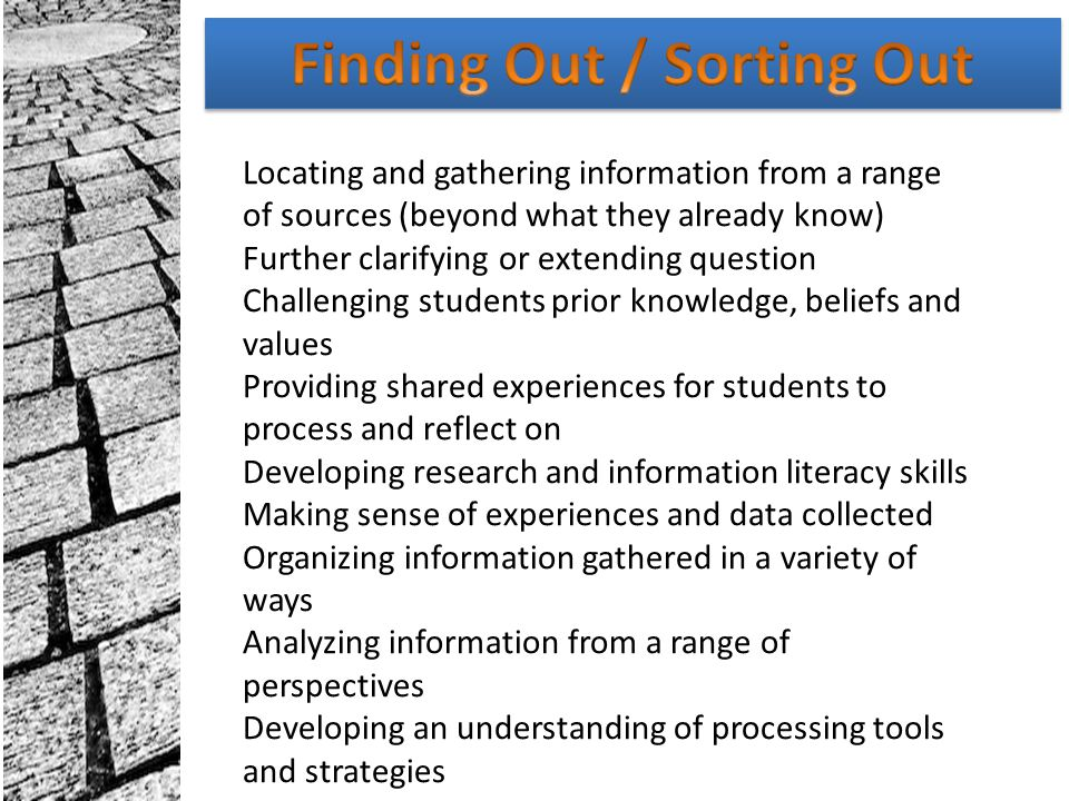 Finding Out / Sorting Out