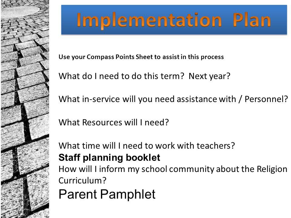 Implementation Plan Parent Pamphlet