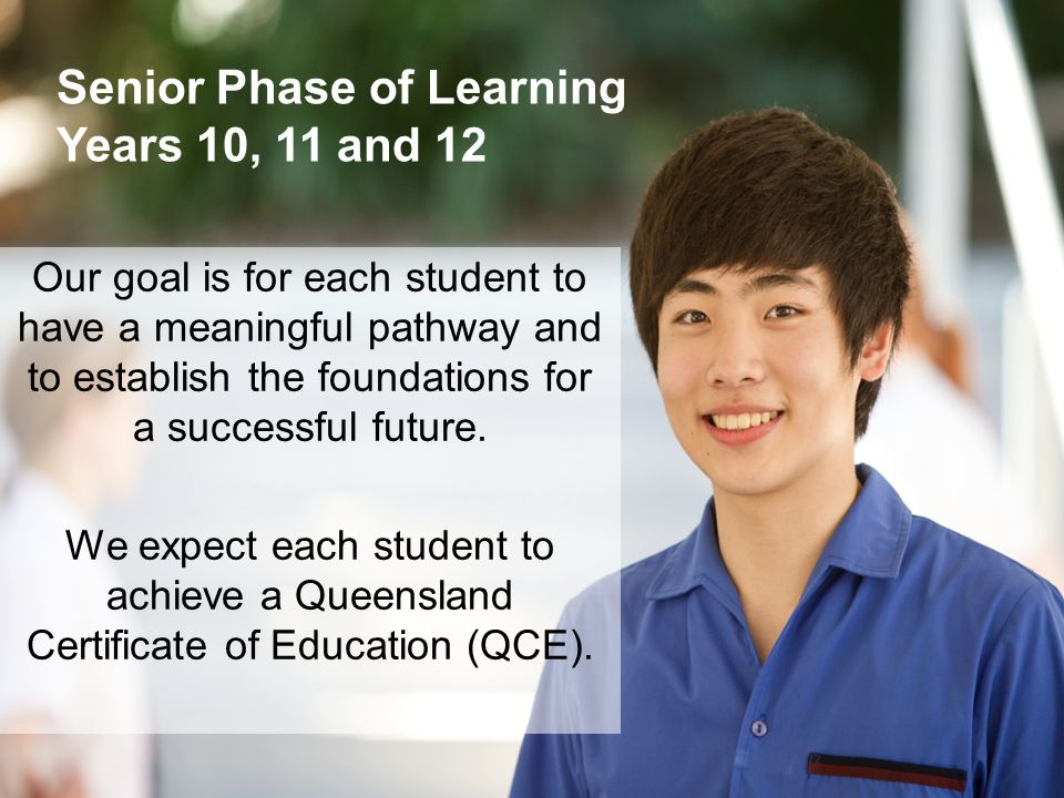 Senior Phase of Learning Years 10, 11 and 12