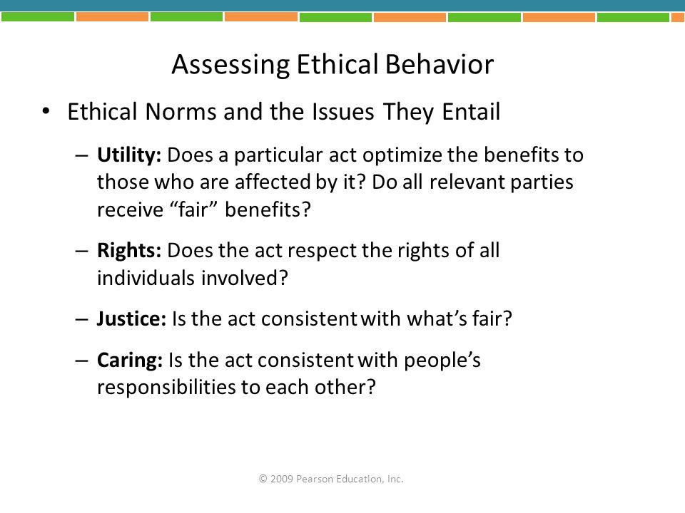 Assessing Ethical Behavior