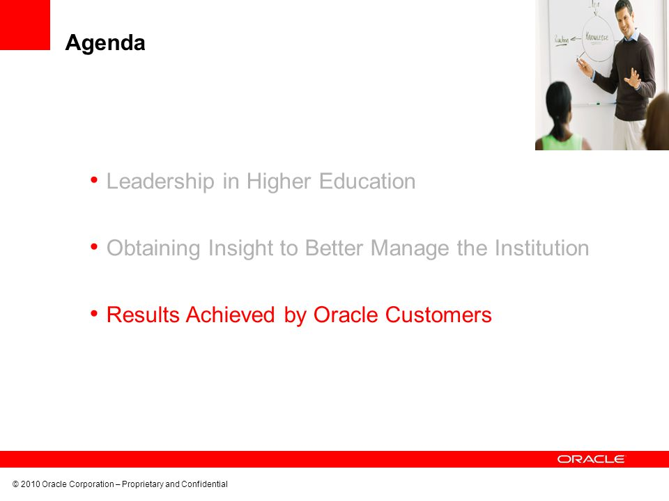 Agenda Leadership in Higher Education. Obtaining Insight to Better Manage the Institution.