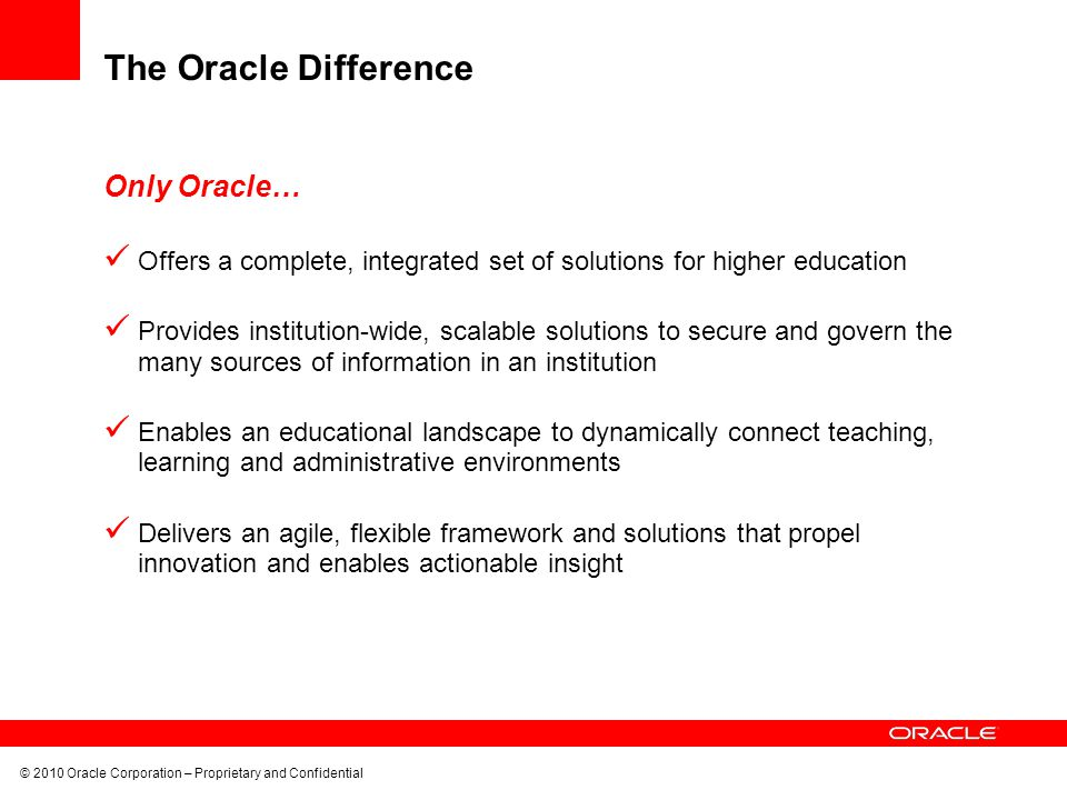 The Oracle Difference Only Oracle…