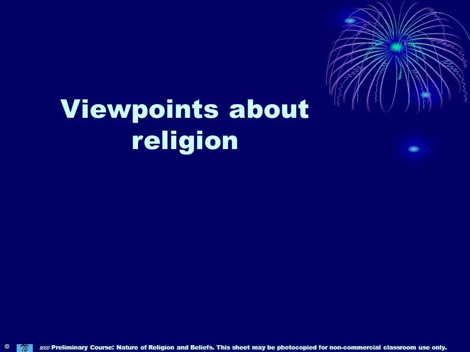 Viewpoints about religion