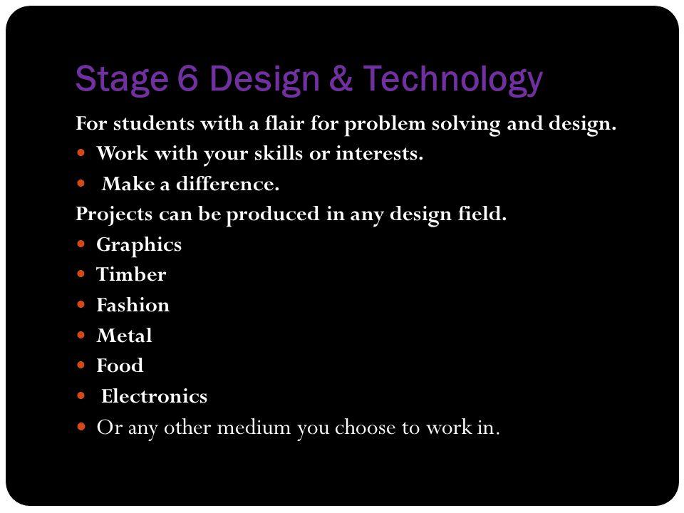 Stage 6 Design & Technology