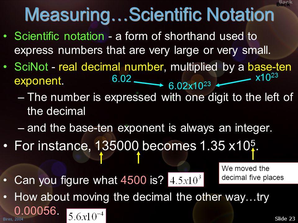 Measuring…Scientific Notation