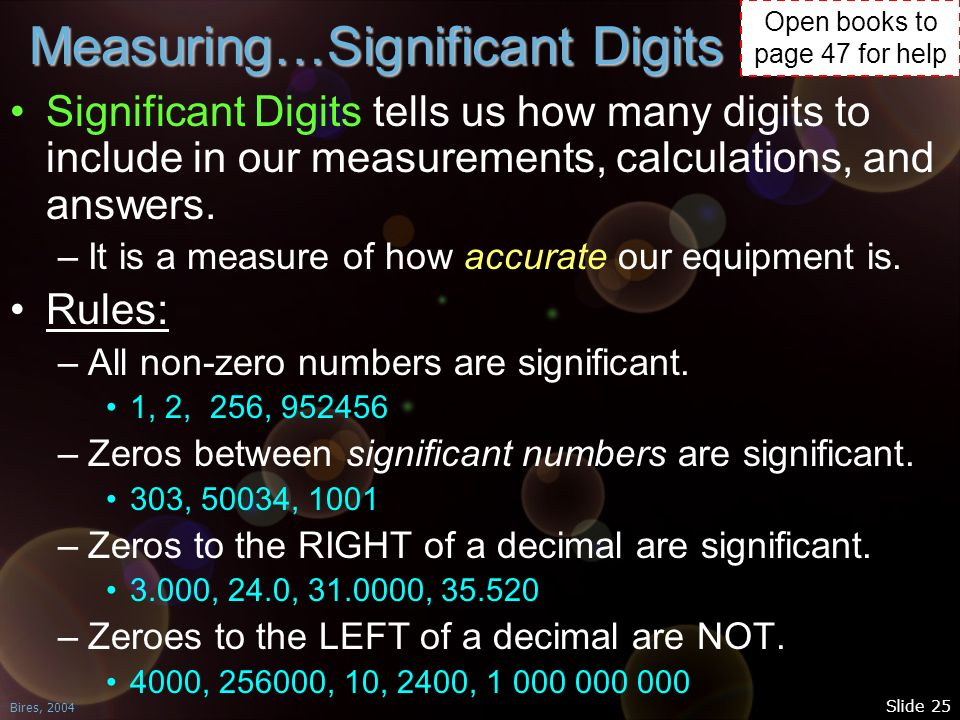 Measuring…Significant Digits