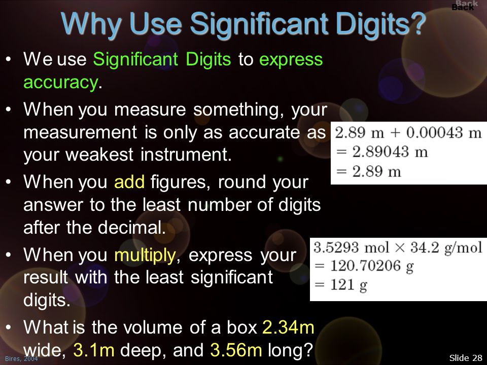 Why Use Significant Digits
