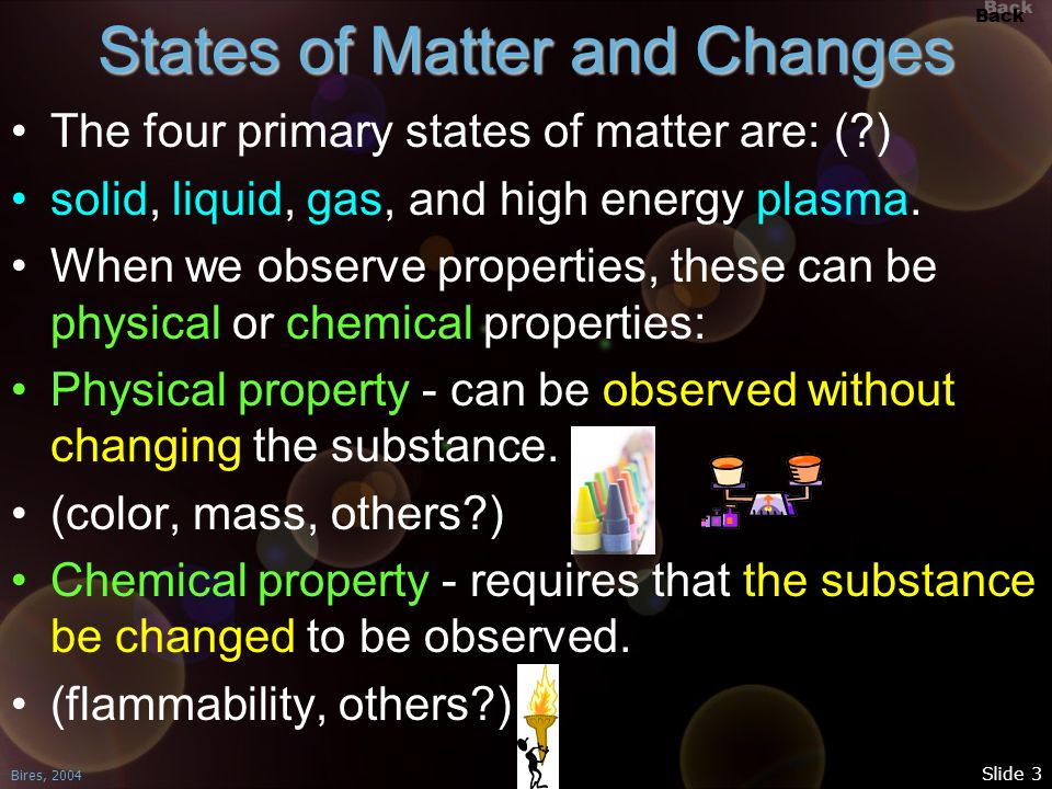 States of Matter and Changes