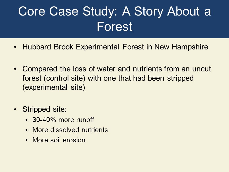 Core Case Study: A Story About a Forest