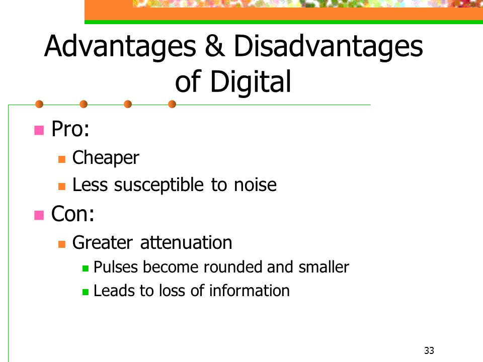 Advantages & Disadvantages of Digital