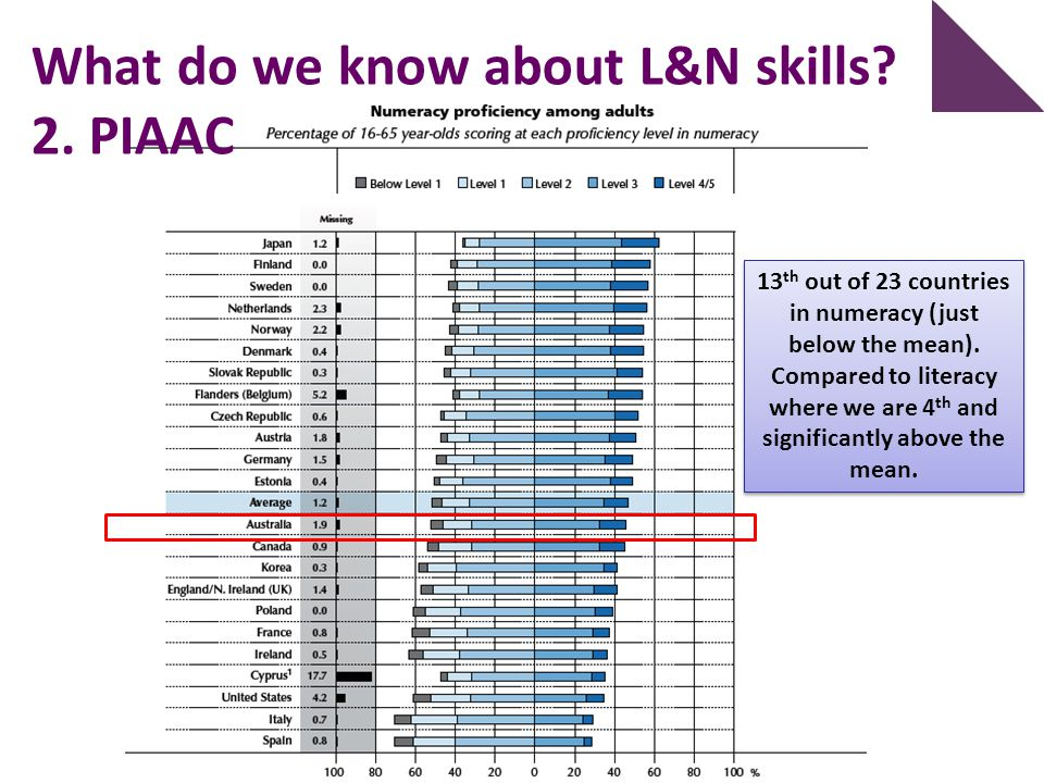What do we know about L&N skills 2. PIAAC