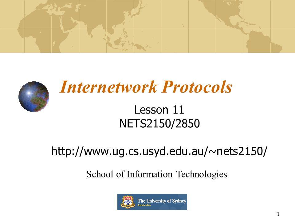 Internetwork Protocols
