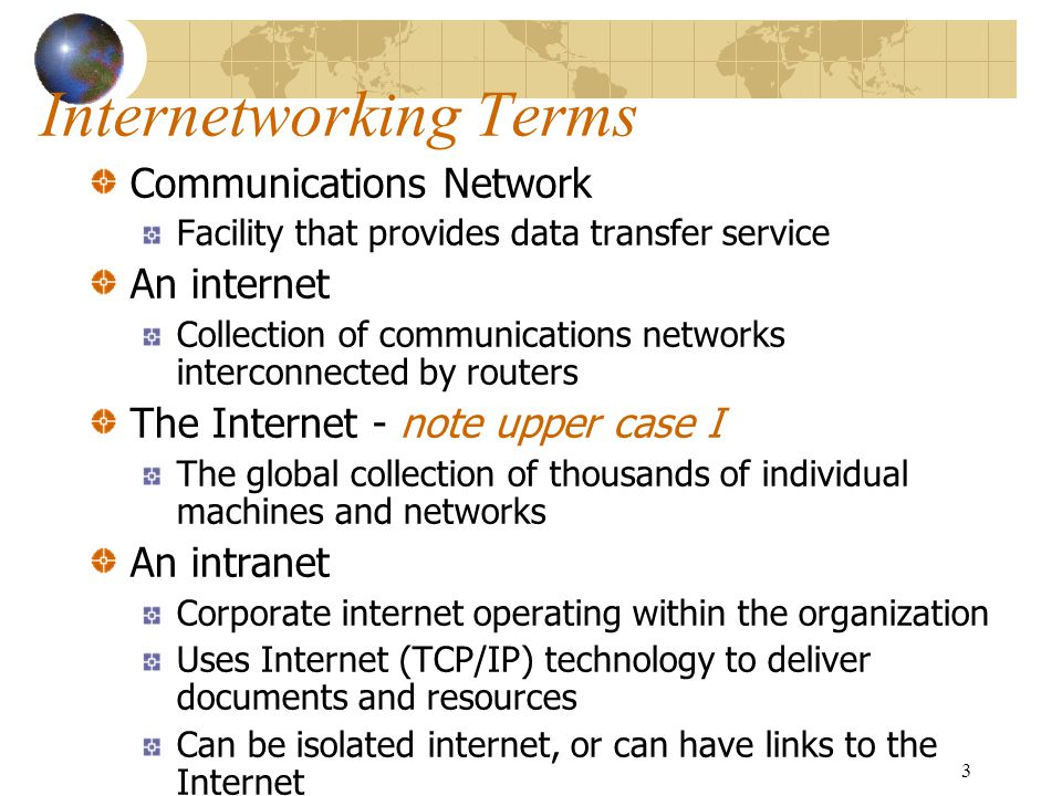 Internetworking Terms